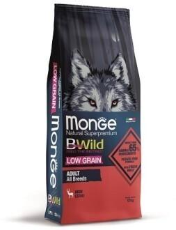 Monge Dog BWild LG малозерновой д/собак олень 12 кг