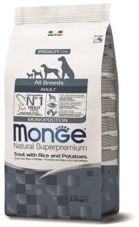 Monge Dog Speciality д/собак форель 2,5 кг