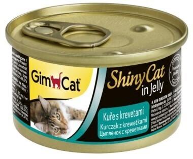 GimCat ShinyCat конс д/кошек из цыпленка с креветками 70 г