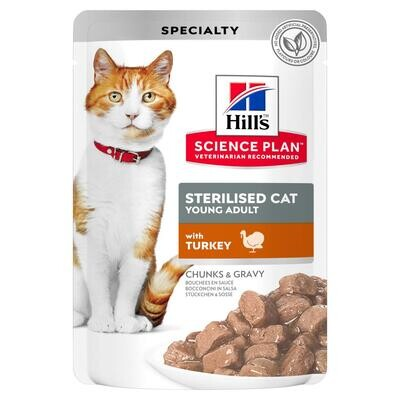 Hill's SP Feline пауч д/стерил кошек Индейка 85 г