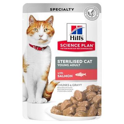 Hill's SP Feline пауч д/стерил кошек Лосось 85 г