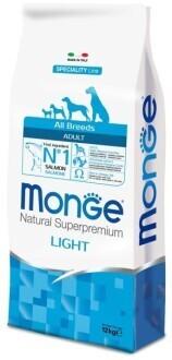 Monge Dog Speciality Light д/собак низкокалорийный лосось 12 кг
