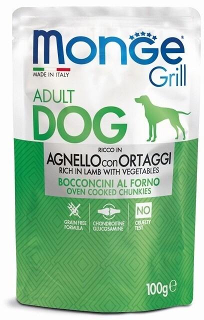 Monge Dog Grill пауч д/собак ягненок овощи 100 г