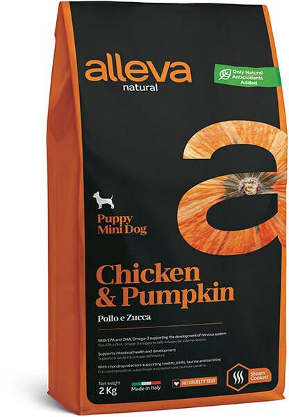 Alleva Natural Puppy Mini Chicken & Pumpkin д/щенков Мини 2 кг