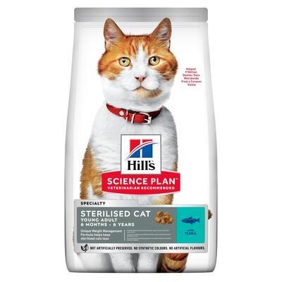 Hill's SP Feline SterilCat д/кошек стерил 6 мес - 6 лет Тунец 1,5 кг