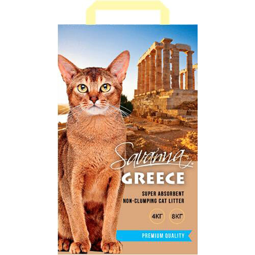 Наполнитель Savanna Greece без запаха впитывающий 4 кг *4 шт