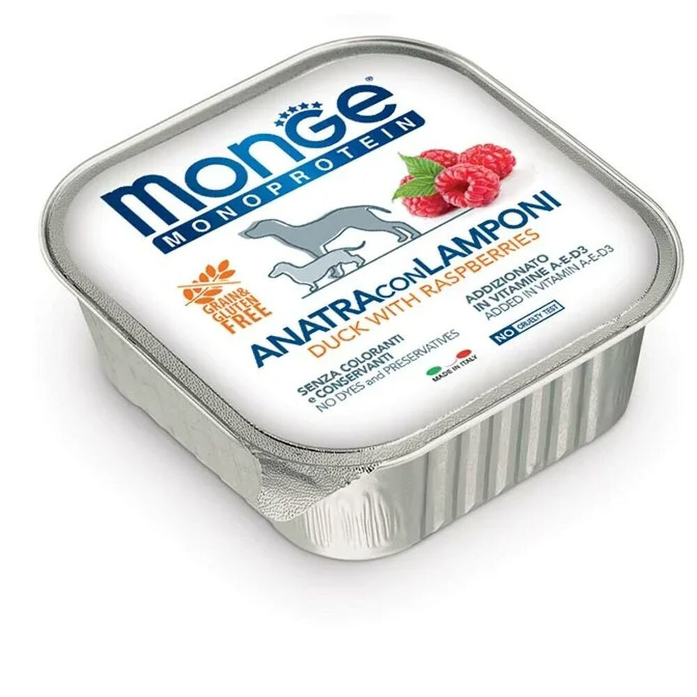 Monge Dog Monoprotein Fruits конс д/собак Утка малина 150 г