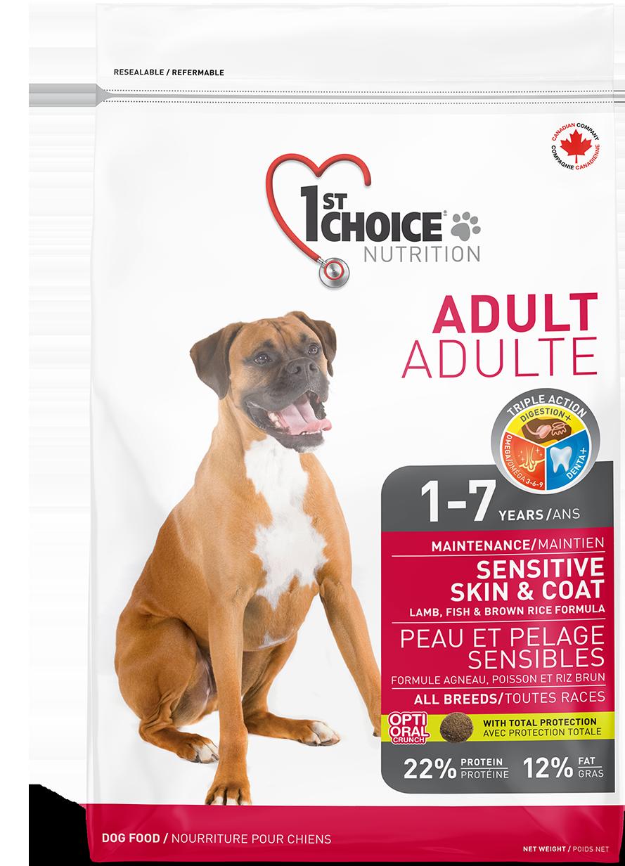 1st CHOICE Sensitive д/собак ягненок-рис 2,72 кг