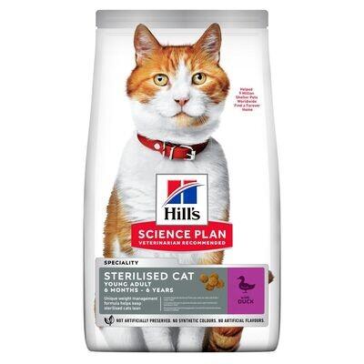 Hill's SP Feline SterilCat д/кошек стерил 6 мес - 6 лет Утка 1,5 кг