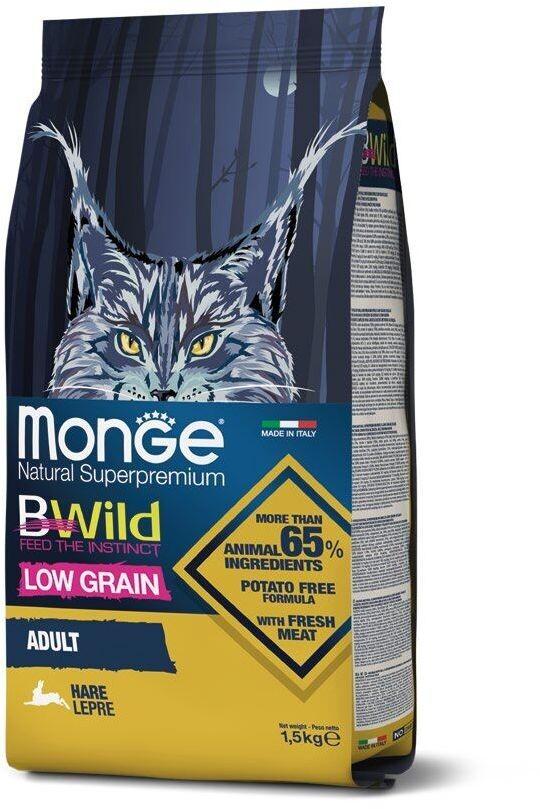 Monge Cat BWild LG малозерновой д/кошек заяц 1,5 кг