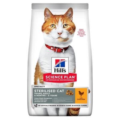 Hill's SP Feline SterilCat д/кошек стерил 6 мес - 6 лет Курица 1,5 кг