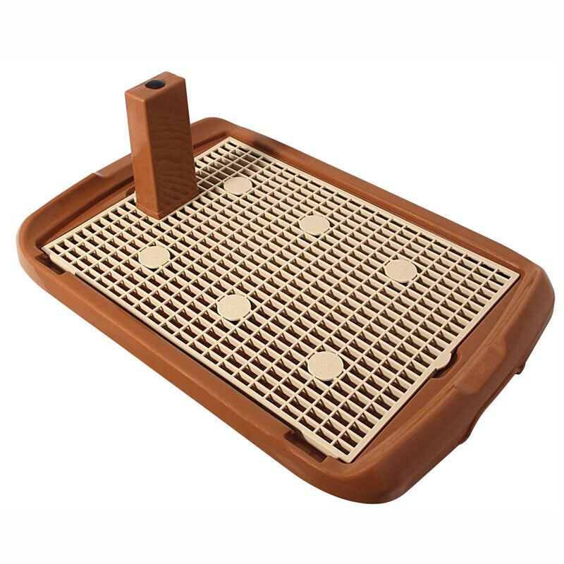 Туалет д/собак со столбиком коричневый 600*400*40 мм PL002