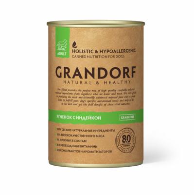 Grandorf Dog конс д/собак ягненок индейка 400 г