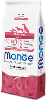 Monge Dog Speciality д/собак говядина 12 кг