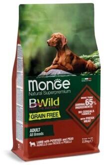 Monge Dog BWild GF беззерновой д/собак ягненок 2,5 кг