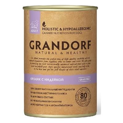 Grandorf Dog конс д/собак кролик индейка 400 г