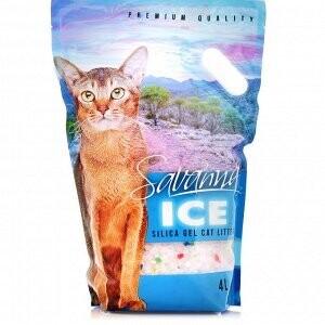 Наполнитель Savanna Ice силикагель цветной впитывающий 3,2 кг