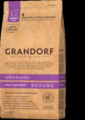 Grandorf Dog Maxi д/собак крупных ягненок рис 12 кг
