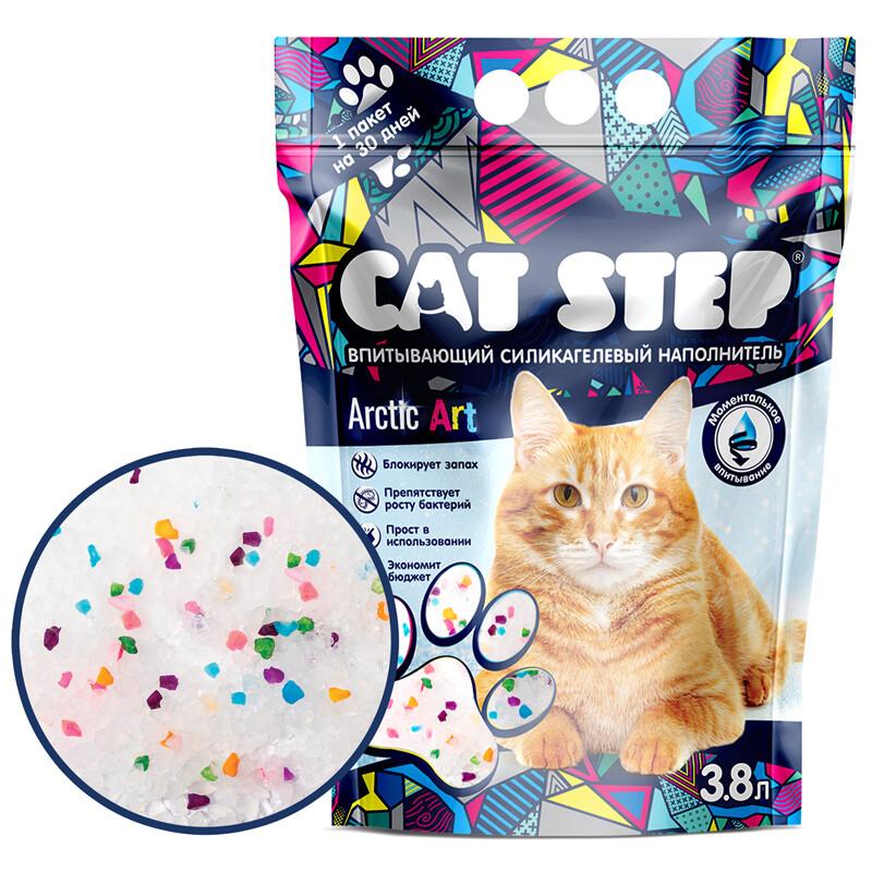 Наполнитель Cat Step Arctic Art силикагель 3,8 л