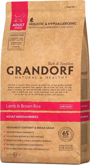 Grandorf Dog All Breed д/собак ягненок рис 3 кг