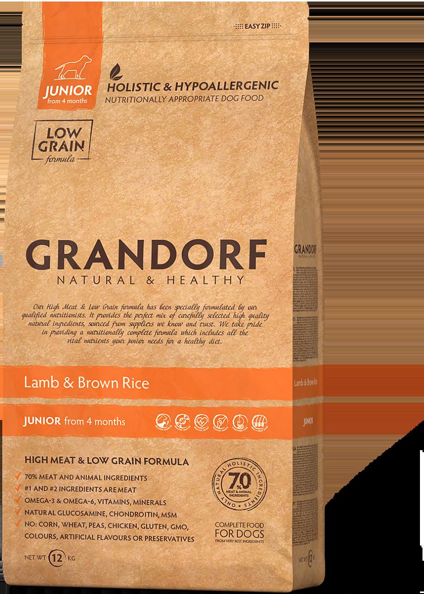 Grandorf Junior д/щенков ягненок рис 12 кг