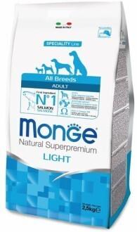 Monge Dog Speciality Light д/собак низкокалорийный лосось 2,5 кг