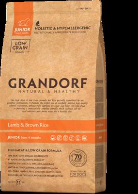 Grandorf Junior д/щенков ягненок рис 3 кг
