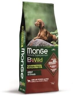 Monge Dog BWild GF беззерновой д/собак ягненок 12 кг