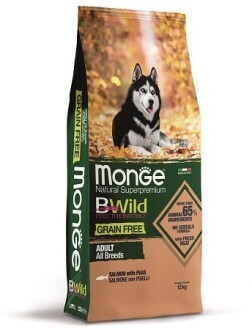 Monge Dog BWild GF беззерновой д/собак лосось 12 кг
