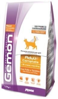 Gemon Cat Adult д/кошек курица индейка 1,5 кг