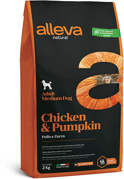 Alleva Natural Dog Adult Medium Chicken & Pumpkin д/собак Медиум 12 кг