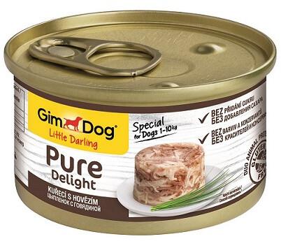 GimDog Pure конс д/собак цыпленок говядина 85 г