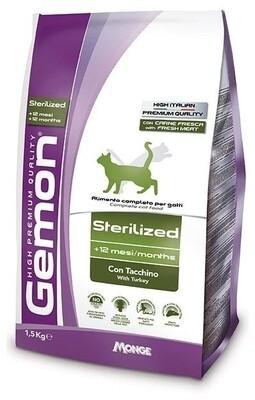 Gemon Cat Sterillised д/кошек стерилизованных индейка 1,5 кг
