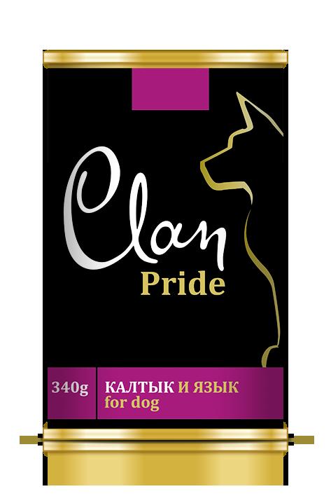 Clan Pride конс д/собак Калтык и язык 340 г