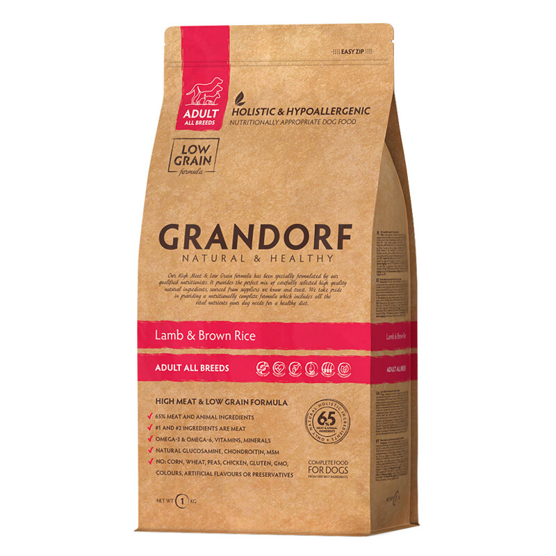 Grandorf Dog All Breed д/собак ягненок рис 12 кг