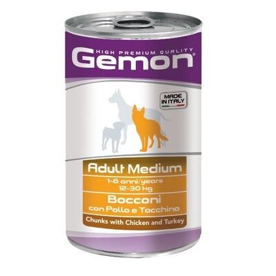 Gemon Dog конс д/собак средних курица индейка 1250 г