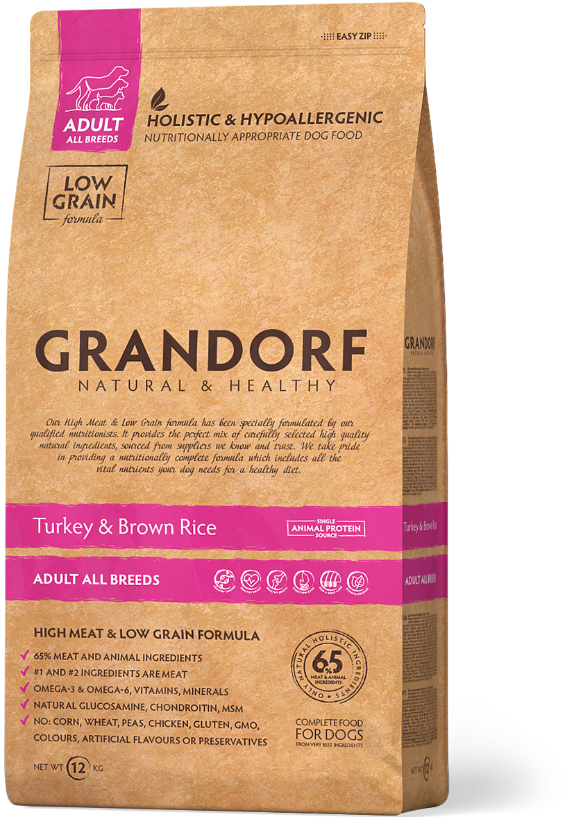 Grandorf Dog All Breed д/собак индейка рис 3 кг