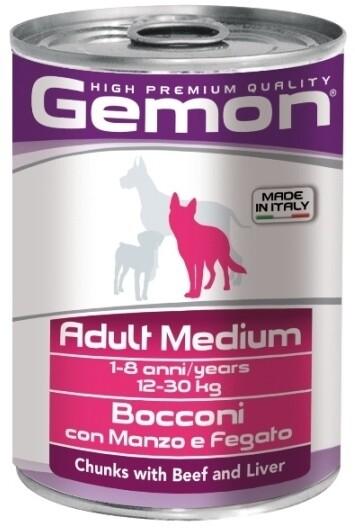 Gemon Dog конс Medium д/собак средних говядина печень 415 г