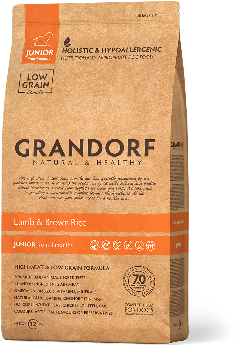 Grandorf Junior д/щенков ягненок рис 1 кг