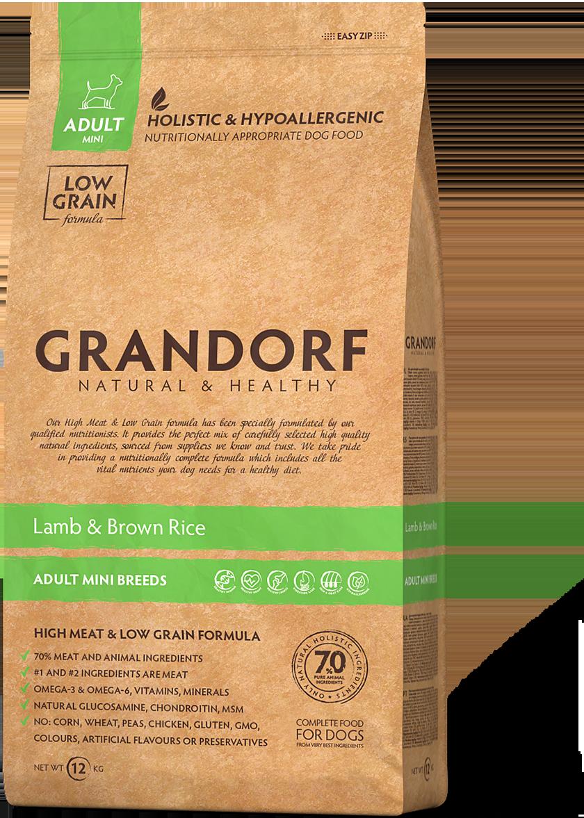Grandorf Dog Mini д/собак мелких ягненок рис 1 кг