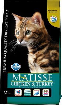 Matisse Cat д/кошек курица индейка 1,5 кг