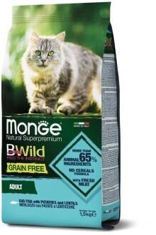 Monge Cat BWild GF беззерновой д/кошек треска 1,5 кг