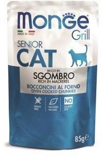 Monge Cat Grill пауч д/кошек эквадорская макрель 85 г