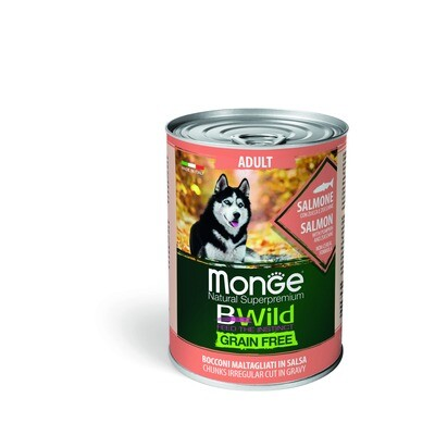 Monge Dog BWild GF конс д/собак лосось 400 г