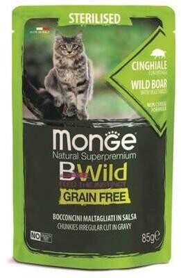 Monge Cat BWild GF пауч д/стерил кошек кабан 85 г