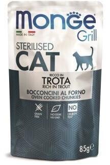 Monge Cat Grill пауч д/стерил кошек итальянская форель 85 г