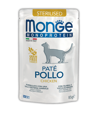 Monge Cat Monoprotein пауч д/стерил кошек курица 85 г