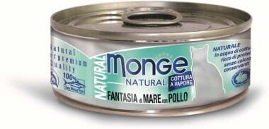 Monge Cat Natural конс д/кошек морепродукты курица 80 г