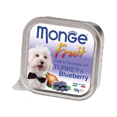 Monge Dog Fruit конс д/собак Индейка с черникой 100 г