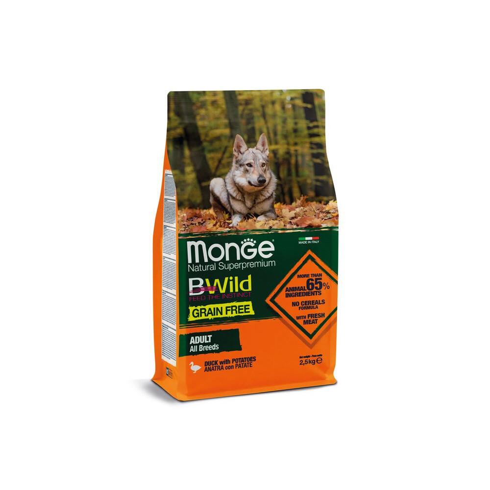 Monge Dog BWild GF беззерновой д/собак утка 2,5 кг